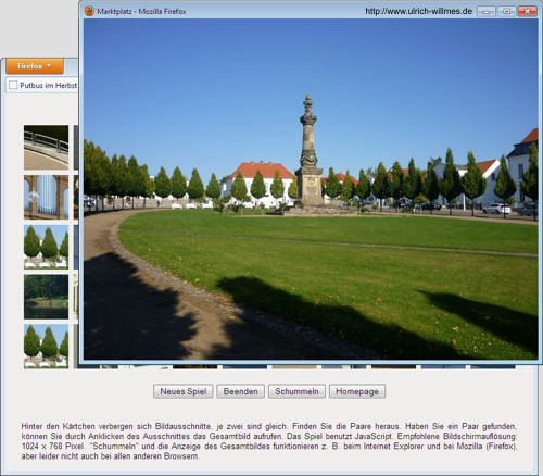 Screenshot Gedaechtnis-Game Putbus